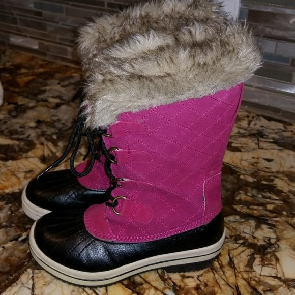 target Shoes | Girls Black Snow Boots